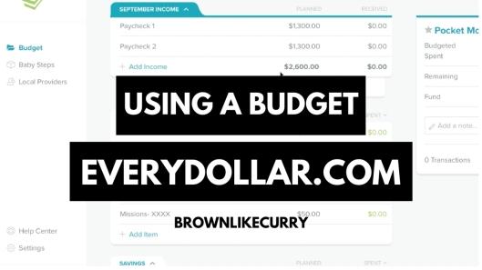 Using a budget